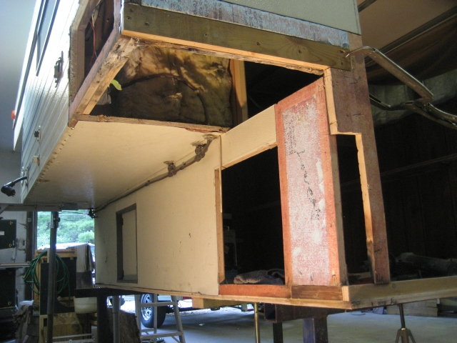 A Partial Section Of The Driver Side Box Wing Under Fridge Was Cut Out And Replaced With 1 2 Plywood Skinned Layer 10 Ounce Fiberglass